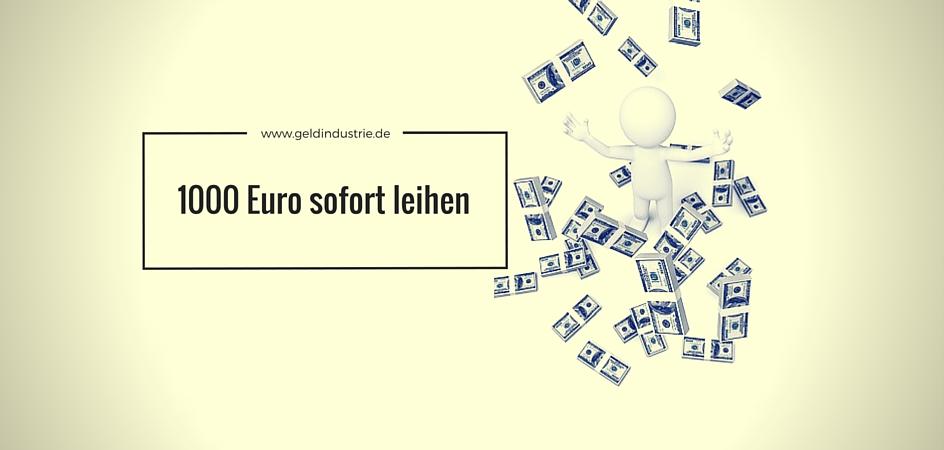 1000 Euro sofort leihen